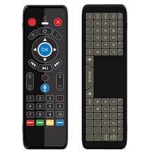 Miniteclado de juego con retroiluminación táctil, de 7 colores, para Air Mouse, control remoto por voz, giroscopio, 2,4G, luz LED IR para TV Box de Smart TV