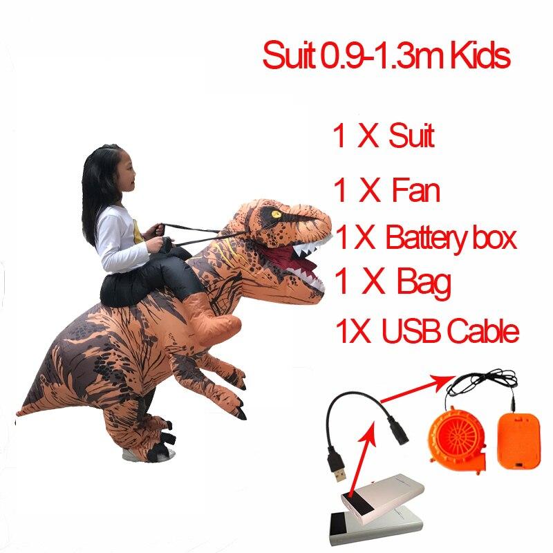 Jurassic World 2 Velociraptor Costume Inflatable T REX Dinosaur Costume Halloween Cosplay Adult Fantasy Raptor Mascot Costume (7)