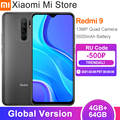 Глобальная версия смартфона Xiaomi Redmi 9 4 ГБ ОЗУ 64 Гб ПЗУ Helio G80 13MP + 8MP камера 6,53