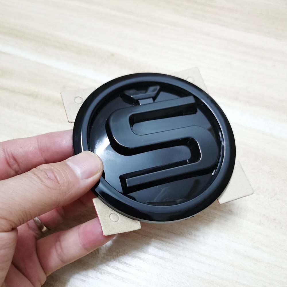 Наклейка на капот для SKODA SUPERB OCTAVIA SCALA YETI FABIA KODIAQ KAMIQ RAPID S, наклейка с логотипом, эмблема SKODA, черная наклейка 90 мм|Наклейки на автомобиль|   | АлиЭкспресс