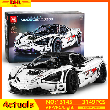 APP RC MOC Technic Series McLaren P1 720S Motor Function Racing Car Model Building Blocks Bricks Compatible Lepining 13145 Toys 20004 app rc technic series car motor power mobile crane mk ii model building blocks bricks compatible with 42009 toys kids gift