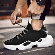Fashion Casual Shoes Men Spring Summer Flats Platform Sock Height Increasing Walking Footwear zapatos mujer
