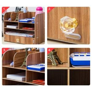 Image 5 - Large Multi Function DIY Desktop Storage Box Wooden Office Multi layer File Rack Supplies File Book Organizer Bookshelf