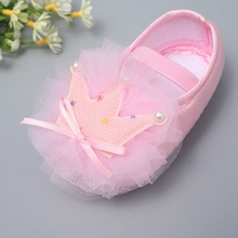 Baby Girl Crown Mesh Princess Shoes Anti-slip Soft Sole Crib Breathable Shoes Infant Toddler Shoes Newborn First Walker12