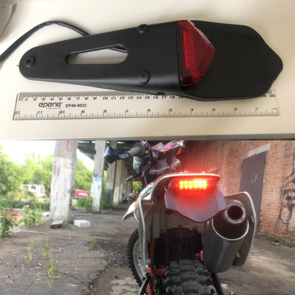 Motorcycle LED Tail Light&Rear Fender Stop <font><b>Enduro</b></font> Taillight MX Trail Supermoto FOR KTM CR EXC WRF <font><b>250</b></font> 400 426 450 image