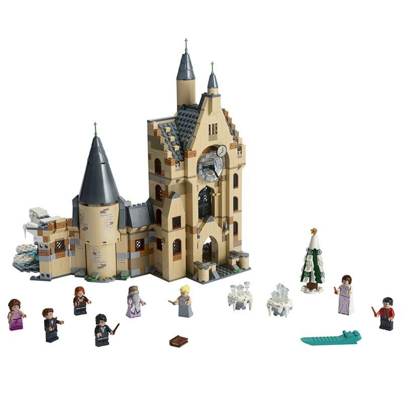 900pcs Clock Tower Castle Villa House Movies Building Blocks Bricks Compatible Legoinglys Harry 75948 Toys Christmas Gifts