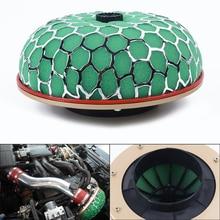Sponge Green Air Filter Mushroom Head Shape Durable High Flow Car Intake Turbo Induction 100mm Universal