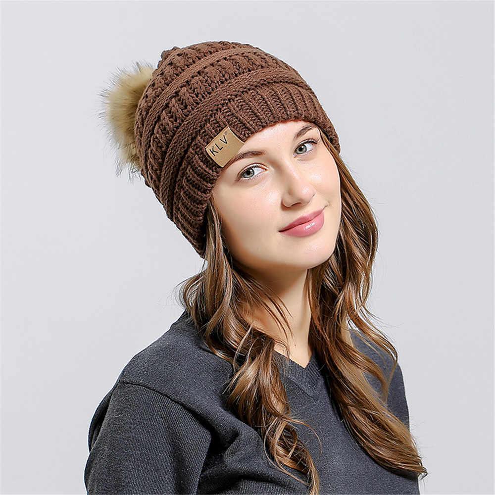 หมวกผู้หญิงผู้หญิง Baggy โครเชต์ฤดูหนาวถักหมวก Beanie Skull Slouchy หมวกหมวกคุณภาพสูง WARM สตรีหมวกหมวกใหม่