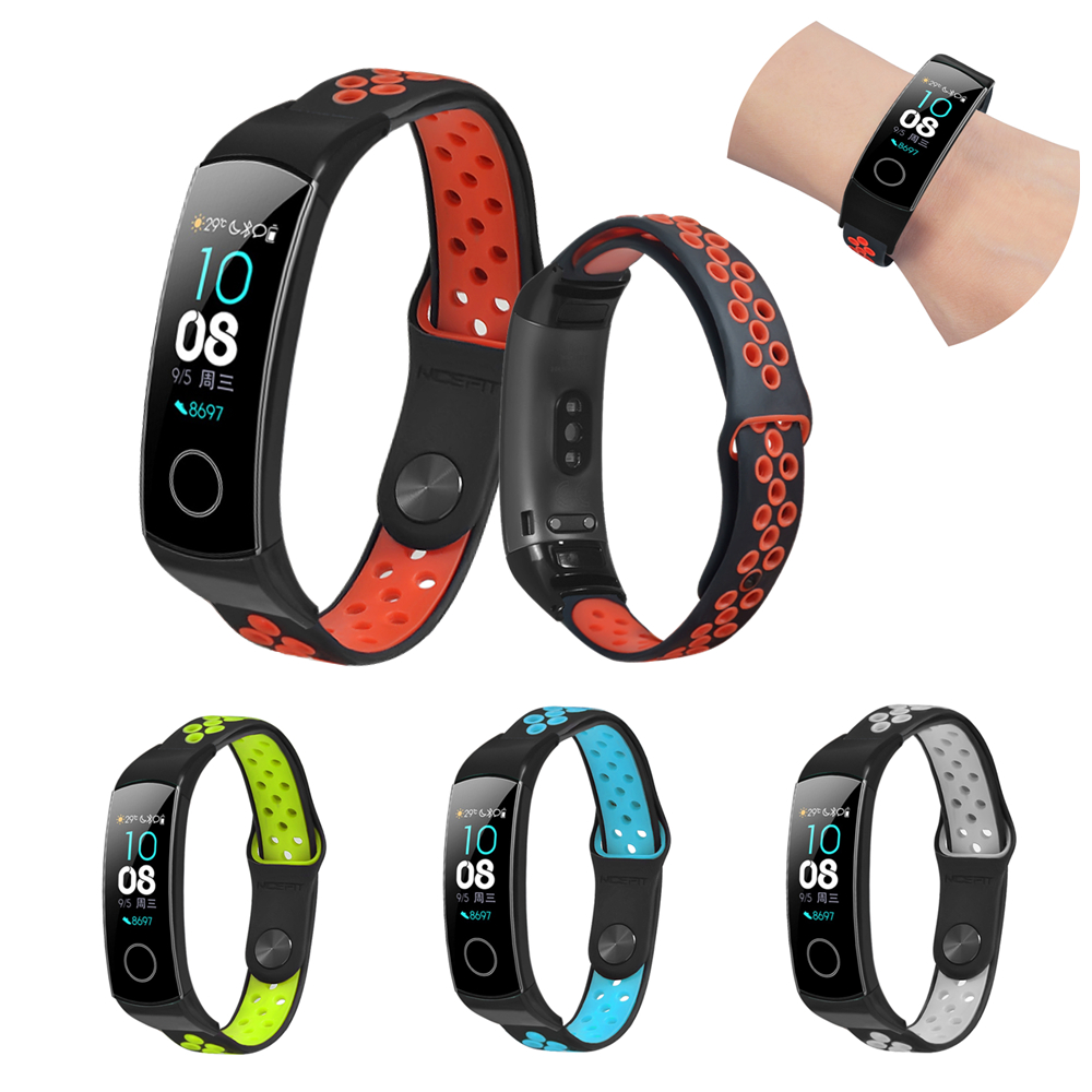 Sport Band For Honor Band 5 Strap Silicone Breathable Bracelet For Band Honor 5 Watchband Replacement Wristband For Honor Band 4