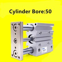 MGPM50 10/20/25/30/40/50/75/100 Compact pneumatic air cylinder with guide rod cylinder MGPM50 10 MGPM50 20 MGPM50 25 MGPM50 30