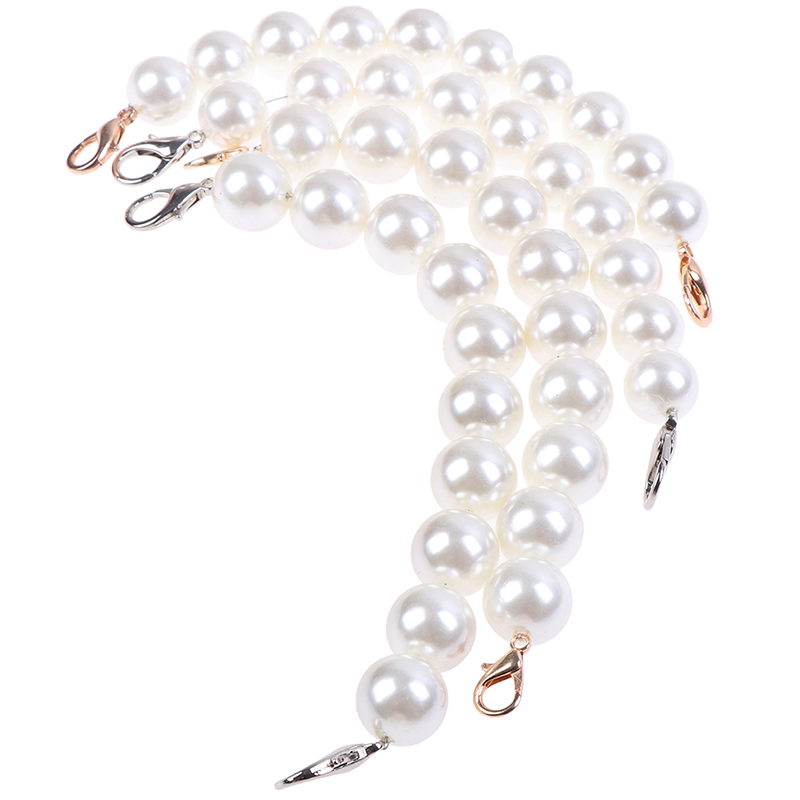1PC DIY Giant Faux Pearl Bag Strap Replacement Top Handle On Handbag Classic Flap