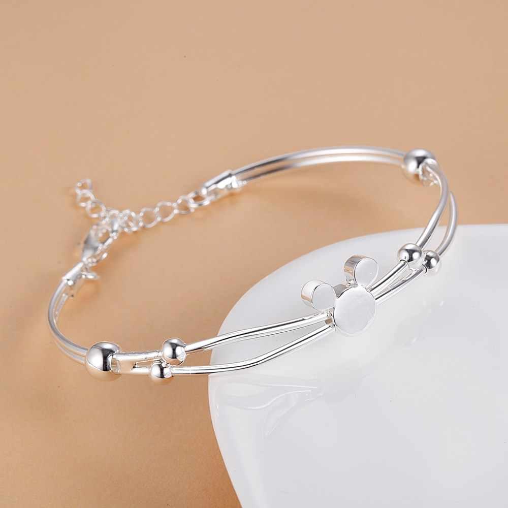 Vendita calda 925 sterling Silver Mickey catena del braccialetto delle donne della signora noble nizza braccialetto di fascino di modo dei monili di cerimonia nuziale nobile del partito