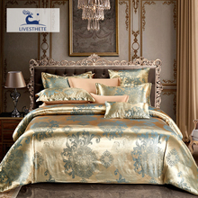 Liv-Esthete Luxury Euro Jacquard Bohemia Bedding Set Silky Duvet Cover Healthy Skin Pillowcase Double Flat Sheet Bed Linen