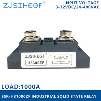 SSR-H31000ZF single phase solid state relay 1000A   industrial relay with  high voltage   for PLC Temperature controller