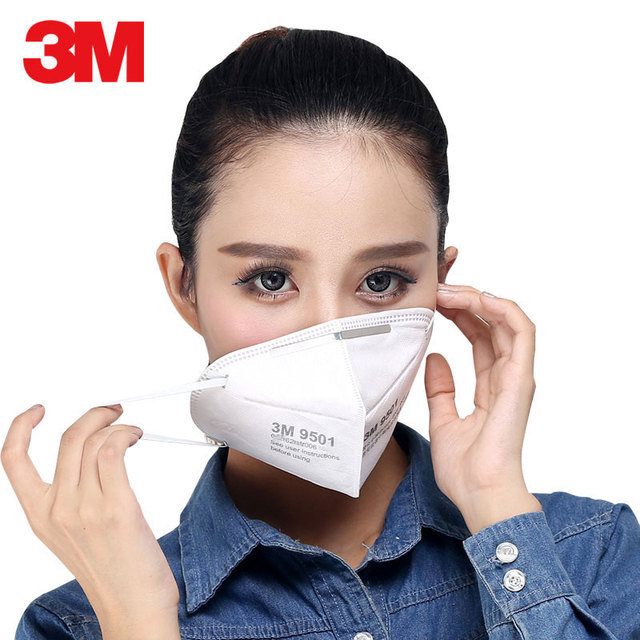 3M KN95 Mask 9501 Respirator Face Masks Anti haze PM2.5 Multi-layer filter Head mounted Cool Flow Valve Breathable Safety mask 1