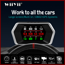 Neueste Head Up Display OBD Auto Elektronik HUD Display P17 OBD2 + GPS Dual Modus GPS Tacho Klar Fehlerhafte Code PK C1 RPM Temp