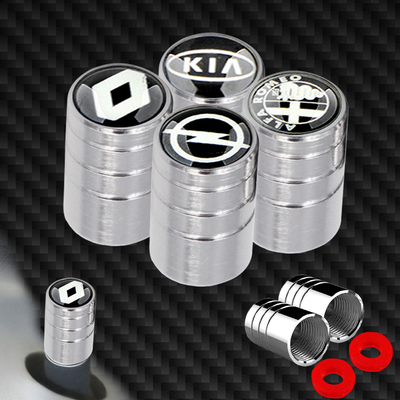 4pcs Metal Wheel Tire Valve Caps Accessories for Audi J8 B8 A1 A3 A4 B5 B6 B7 A5 TT A6