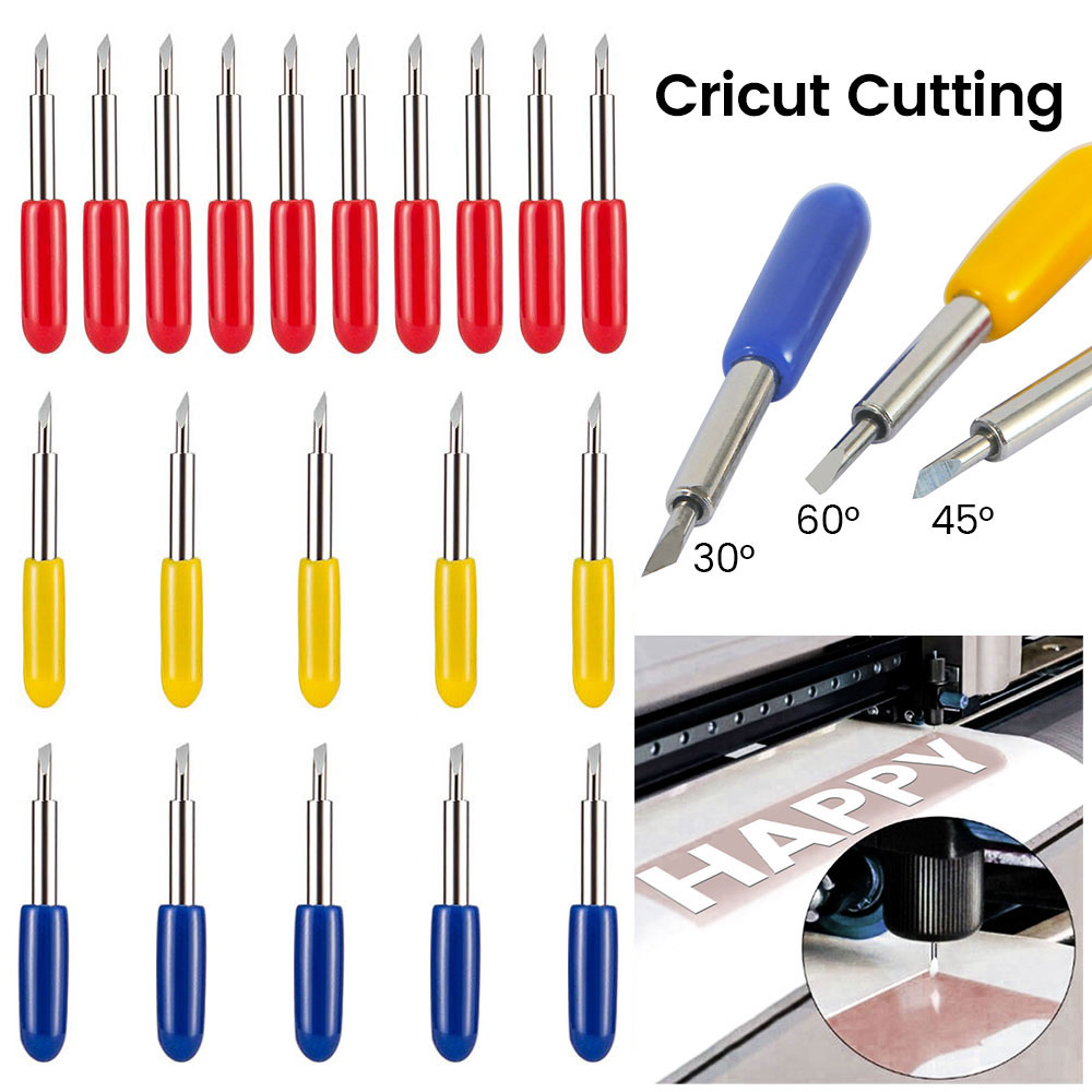 20pcs Roland Lettering Knife Blade Plotter Cutter Vinyl Cutting Carbide 30 45 60Degree End Mill Carbide Carbide Milling Bits