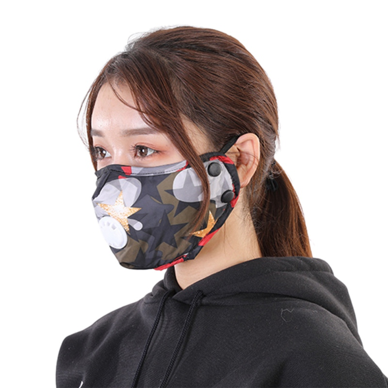 Reuable Face Mask PM2.5 Dust Anti-fog And Activated Carbon Mouth Mask Dust-Proof Mask With Filter Respirator Fast Drop Shipping