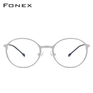 Image 3 - Fonex Legering Ronde Bril Mannen Ultralight Bril Voor Vrouwen Prescription Bijziendheid Optische Brillen Frame Schroefloos Eyewear