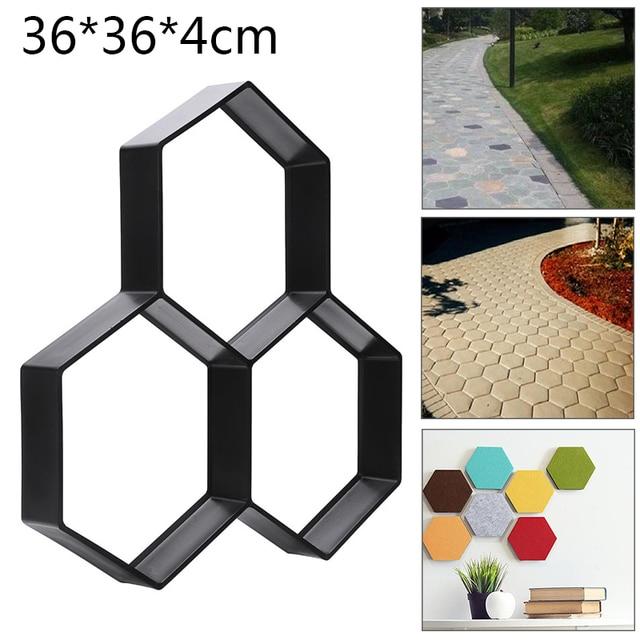 36cm Garden Paving Mould DIY Home Garden Floor Road Concrete Stepping Driveway Stone Path Mold Patio Maker
