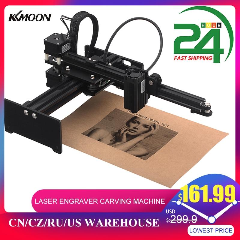 KKMOON-Mini impresora profesional CNC de 20000mW, máquina de grabado láser de escritorio, Kit de enrutador de madera con gafas protectoras