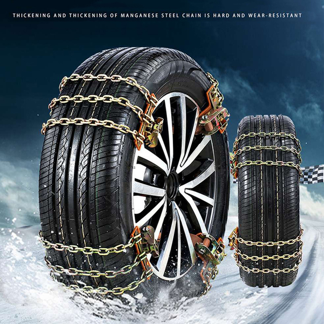 Автомобильная шина, противоскользящая цепь, универсальный тип, смелая металлическая цепь для снега, для внедорожников, грузовиков, снега, шин, цепь для снега