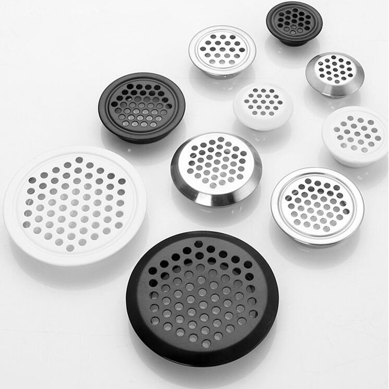 10pcs Stainless Steel Round Ventilation Cover Air Vent Louver Mesh Hole For Wardrobe Shoe Cabinet Furniture Accessories