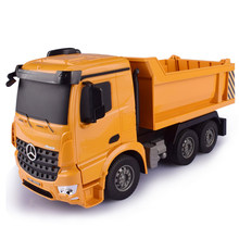 RC Truck 1:26 Remote Control Dump Truck 2.4G Engineering Car Container Vehicle Radio Control Tip Lorry Auto Lift Car Toy For Kid(China)