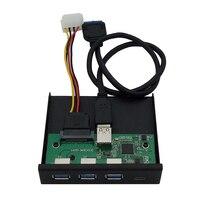 33S50-RTK Kartenleser Media Typ-C Dual USB 3,0 Port Hub PC Front Panel mit USB Power Kabel SD/Micro SD/TF kartenleser slot