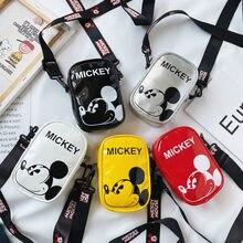 Petite pochette en bandoulière avec les personnages de Disney pour enfant, petit sac avec les figures de Mickey et Minnie, à porter à la taille ou sur la poitrine, pour garçon et fille,