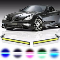 Автомобильный Стайлинг 1 шт. ультра светодио дный яркие светодиодные дневные ходовые огни 17 см водостойкий авто DRL COB вождения
