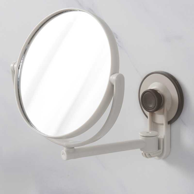 Bath Mirror Cosmetic Mirror 1X/3X Magnification Suction Cup Adjustable Makeup Mirror Double-Sided Bathroom Mirror