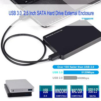 Aluminum Alloy 2.5 inch USB 3.0 HDD Enclosure External Hard Drive Case Caddy Support up to 4TB