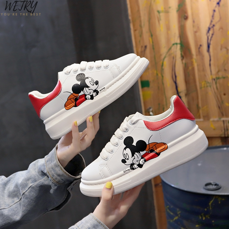 IN 2020 Sneakers Women Genuine Leather Flat Low Heel Platform Ladies Lace Up Fashion Breathable Shoes Women White Nude