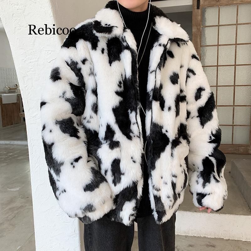 Imitation Fur plus Cotton Warm Plus-sized Menswear Coat Cotton-padded Clothes Hong Kong Style