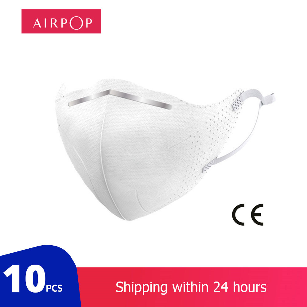 Airpop 10PCS KN95 Dustproof Anti-fog And Breathable Face Masks 95% Filtration N95 Masks Features As KF94 FFP2 For Xiaomi Youpin