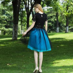 Image 2 - 5 שכבות 60cm Midi טול חצאית נסיכת נשים למבוגרים טוטו אופנה בגדי Faldas Saia Femininas נהיגה לראשונה חצאית קיץ סגנון