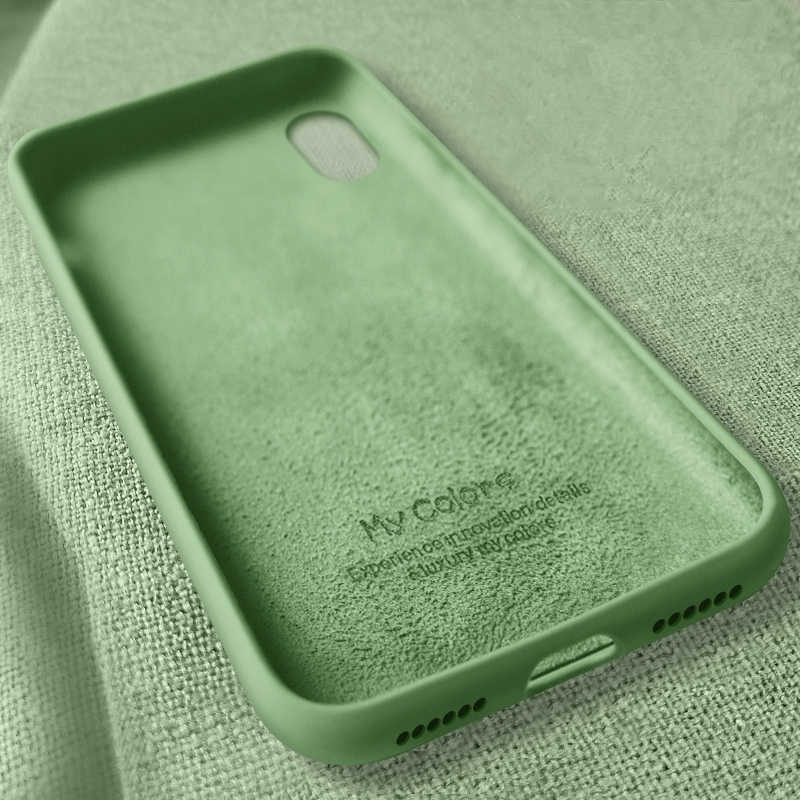 السائل سيليكون رقيقة حقيبة لهاتف أي فون 11 برو 5.8 XS ماكس 6 6S 7 8 زائد X XR 5S SE 4S الأصلي الحلوى غطاء كامل لينة فوندا iPhone11
