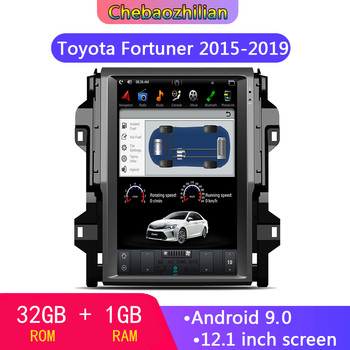 12.1 inch Tesla style Android 9.0 Car GPS DVD Radio player Navigation For Toyota Fortuner 2015-2019 Auto stereo unit Satnav