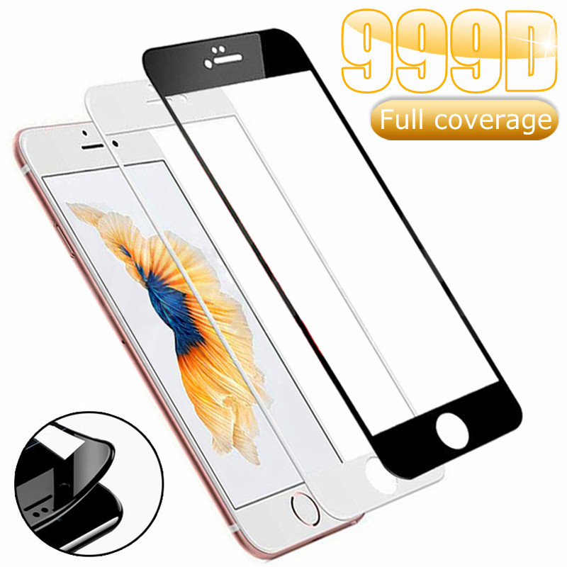 999D Protective Tempered Glass For IPhone X XS 11 Pro Xs Max XR Glass Screen Protector IPhone 7 8 6 6S Plus SE 2020 Glass Film