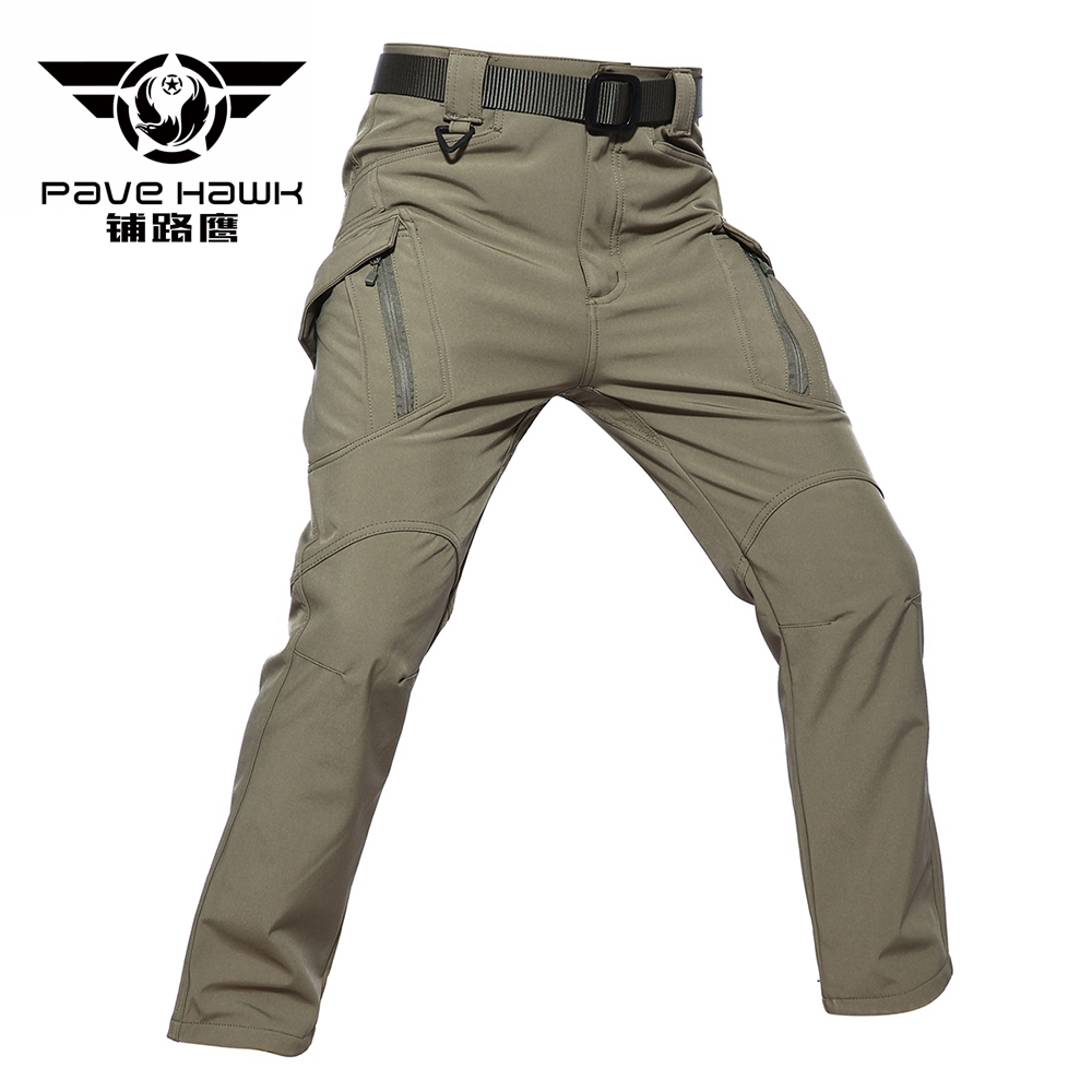 Trekking Warm Fleece Softshell Men Winter Trousers Tactical Outdoor Rain Climb Skiing Hiking Fishing Hunting Waterproof Pants