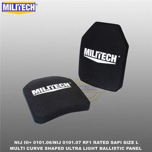 Image 2 - Ballistic Bulletproof Plate NIJ level 3+ NIJ 0101.07 RF1 SAPI Sized 2 PCs Ultra Light PE Panel Against M80&AK47&M193  Militech