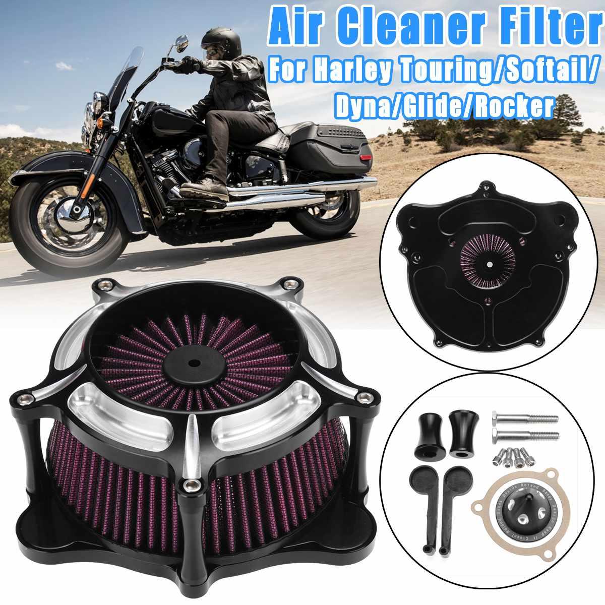 Воздухоочиститель мотоцикла впускной фильтр для Harley Touring/Softail/Dyna FXDLS/Street Glide/Rocker/FLSTSE/FXSBSE 2008 2017