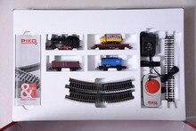Treno modello di pacchetto pacchetto primaria = locomotiva a vapore + tre carrozze + ellittica track + controller 57111