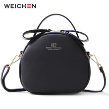 WEICHEN Cute Geometrical Women Handbag Soft Leather Womens Crossbody Messenger Bags Sac Female Round Bolsa Ladies Shoulder Bag