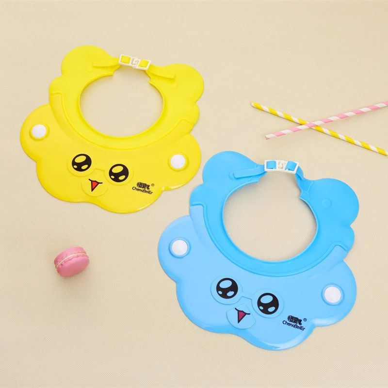 New Style CHILDREN'S Cartoon Silica Gel Shower Cap Cute Baby Shower Cap Infant Waterproof Earmuff Shampoo Cap 6013