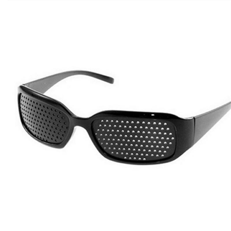 Improvement Vision Eyewear Eyesight Care Glasses Exercise Eye Pinhole Glasses Anti-fatigue Eye For Men PC Laptop Screen Black