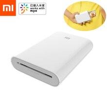 Портативный фотопринтер Xiaomi Mijia AR, 300 точек/дюйм, мини карман, 500 мА · ч, работает с Mijia