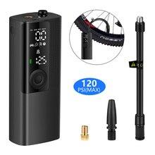 Mini gonfleur électrique Portable pour pneus de voiture, 120psi, compresseur dair pour vélo, pompe à Air Rechargeable